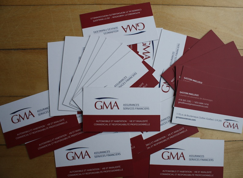 Cartes d'affaires GMA