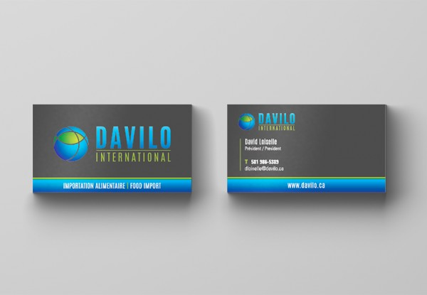 Carte d'affaires Davilo International