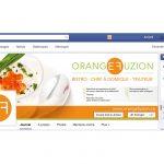 Facebook, LinkedIn, Youtube et Instagram Orange Fuzion
