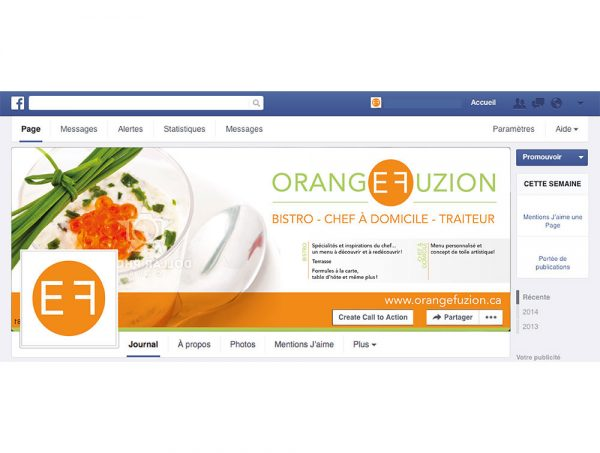 Facebook, LinkedIn, Youtube et Instagram Orange Fuzion