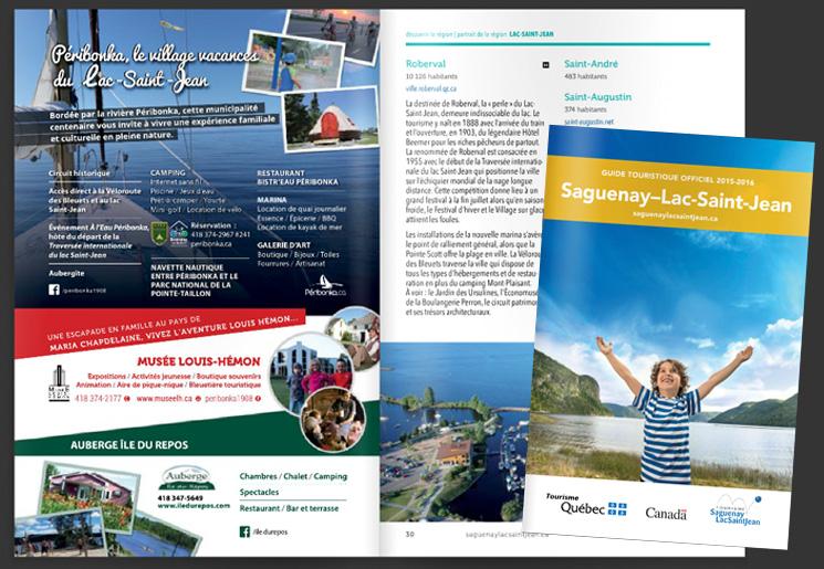 Publicité Peribonka pour le Guide touristique