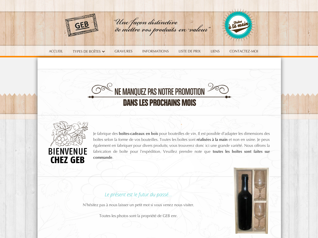 Site Web Boites GEB
