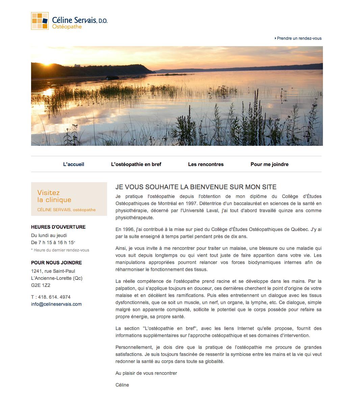 Site Web Celine Servais