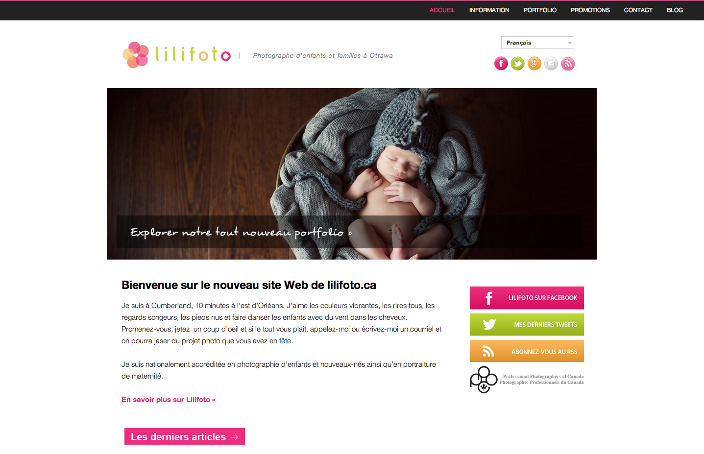 Site Web Lilifoto