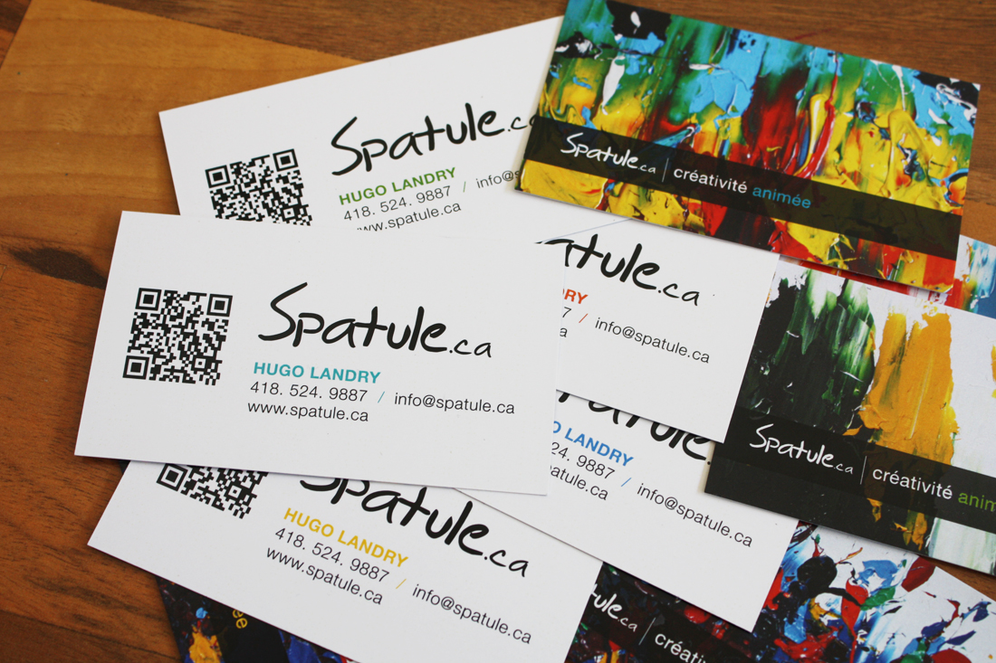 Cartes d'affaires Spatule.ca