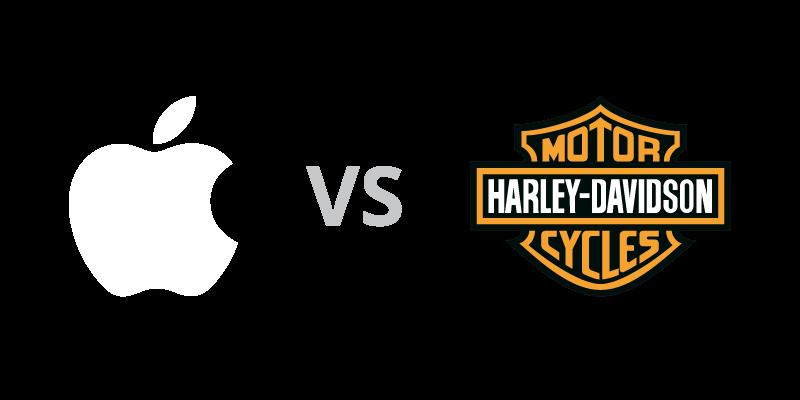 Apple vs Harley