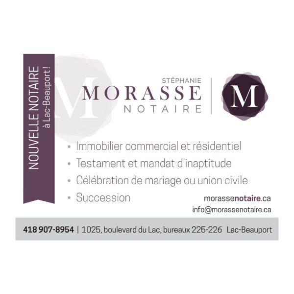 Publicité journal Morasse Notaire