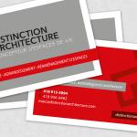 Carte d'affaires Distinction achitecture