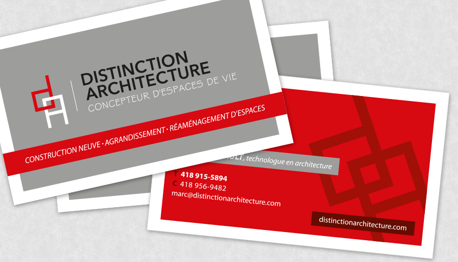 Carte d'affaires Distinction achitecture