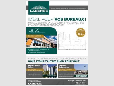Publicité pour Laberge – Septembre 2016