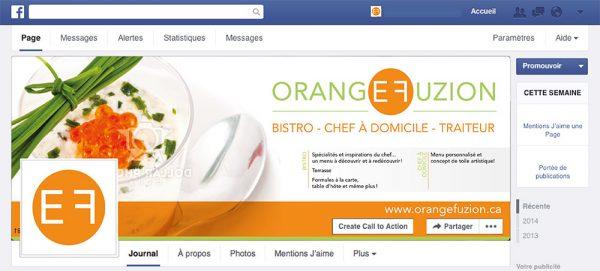 Visuel Facebook pour Orange Fuzion