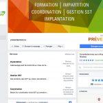 Page Facebook de Preventum SST