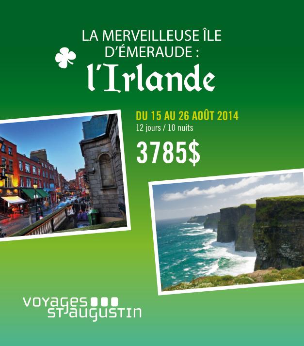 Publicité Facebook Irlande Voyages St-Augustin