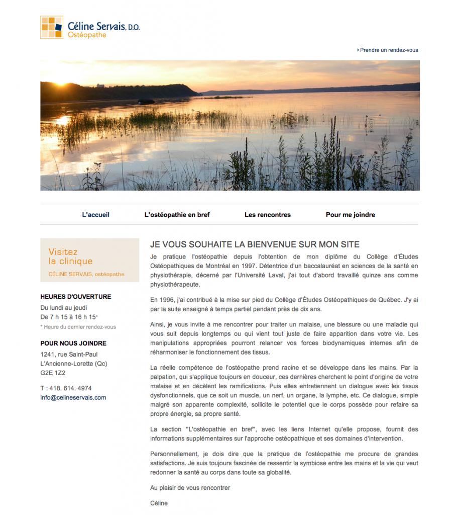 Site Web Céline Servais