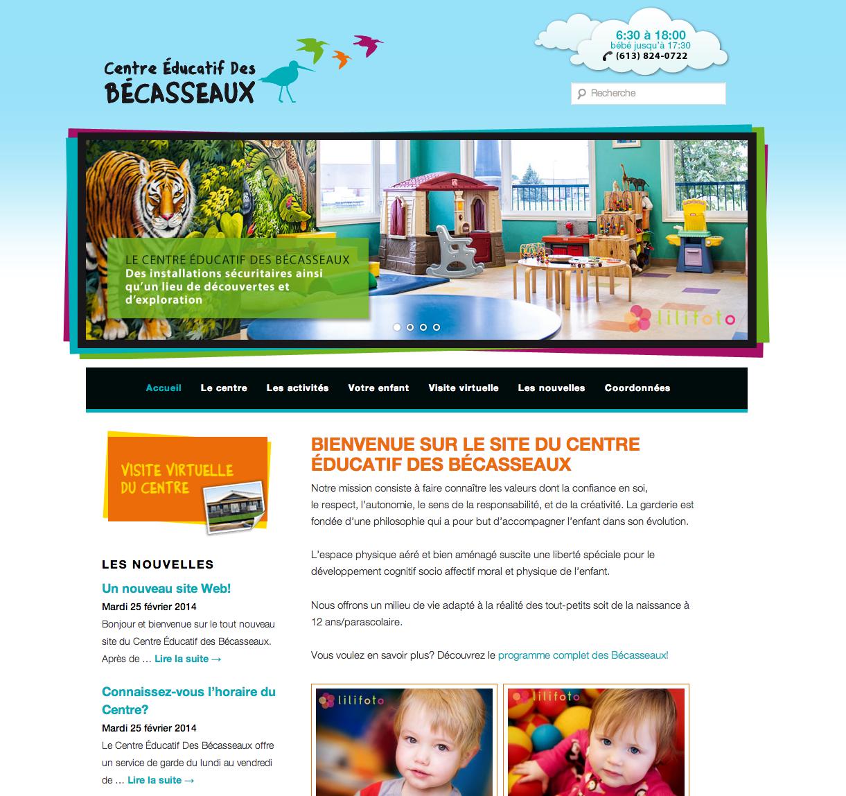 Site Web Centre éducatif des Bécasseaux