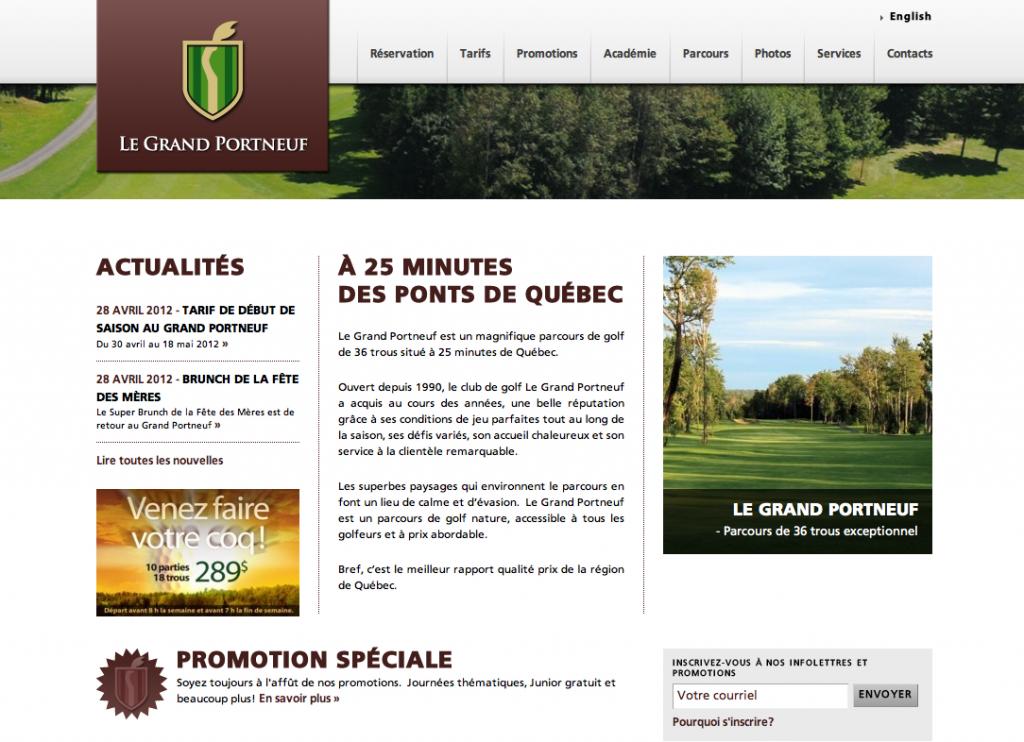 Site web pour Le Grand Portneuf