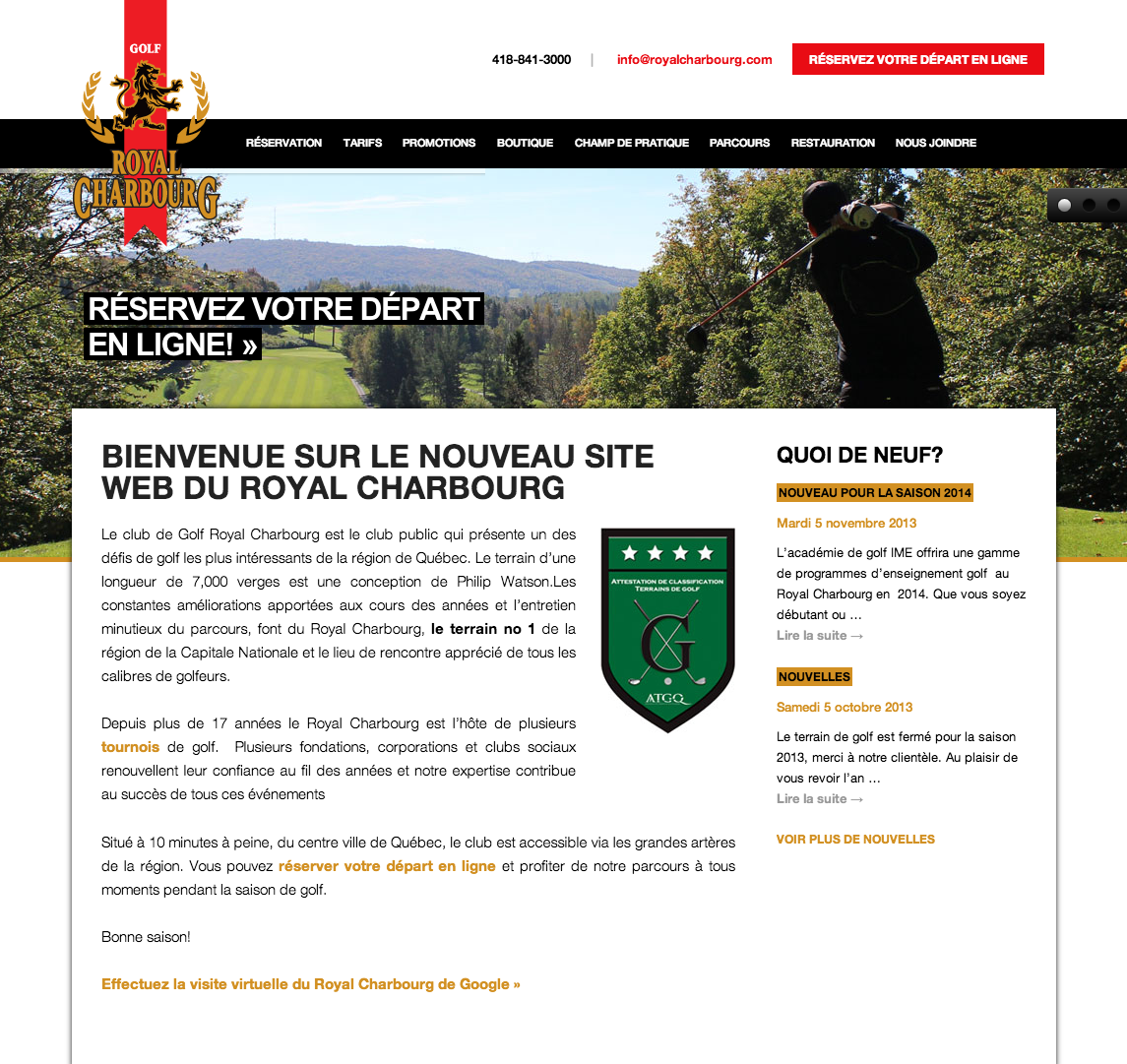 Site Web Royal Charbourg