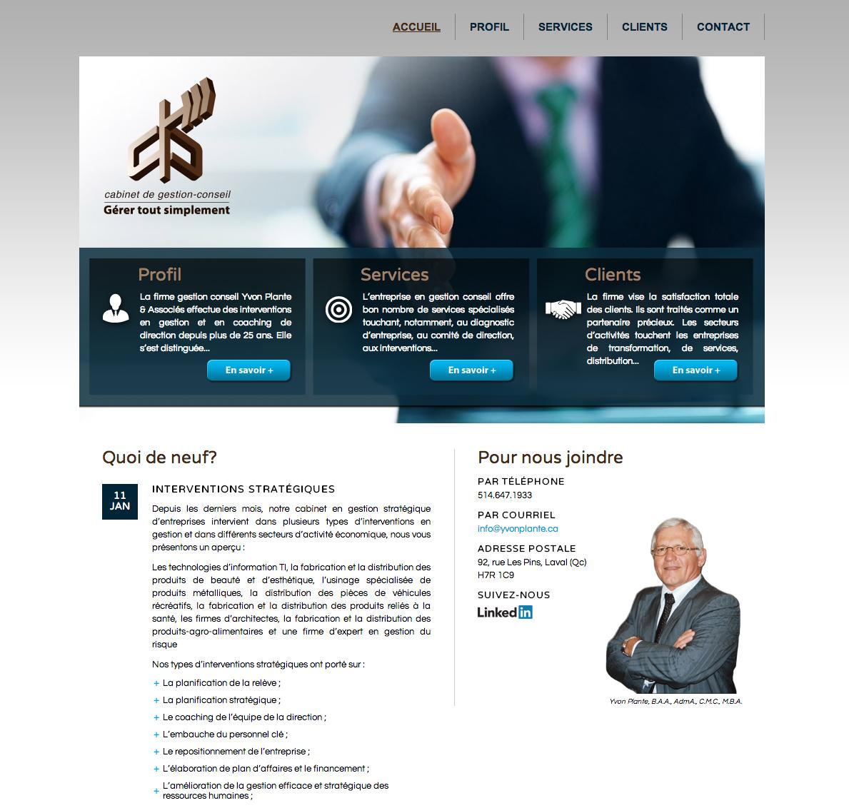Site Web Yvon Plante